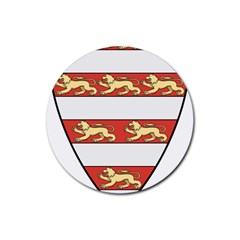 Hungarian Kings (1000-1301) & Seal of King Emeric (1202) Rubber Round Coaster (4 pack)