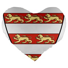 Hungarian Kings (1000-1301) & Seal of King Emeric (1202) Large 19  Premium Heart Shape Cushions