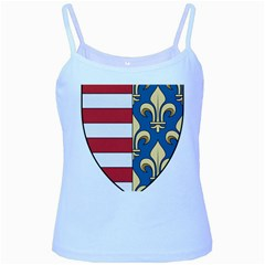 Angevins Dynasty of Hungary Coat of Arms Baby Blue Spaghetti Tank