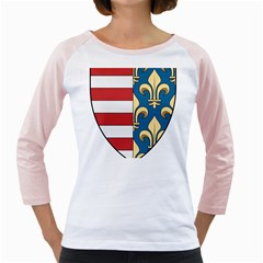 Angevins Dynasty of Hungary Coat of Arms Girly Raglans