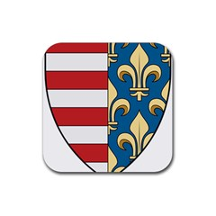Angevins Dynasty of Hungary Coat of Arms Rubber Square Coaster (4 pack)