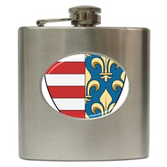 Angevins Dynasty of Hungary Coat of Arms Hip Flask (6 oz)