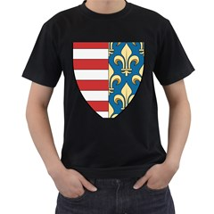Angevins Dynasty of Hungary Coat of Arms Men s T-Shirt (Black) (Two Sided)