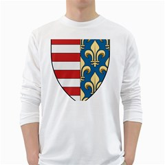 Angevins Dynasty of Hungary Coat of Arms White Long Sleeve T-Shirts