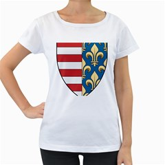 Angevins Dynasty of Hungary Coat of Arms Women s Loose-Fit T-Shirt (White)