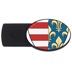 Angevins Dynasty of Hungary Coat of Arms USB Flash Drive Oval (4 GB)