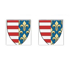 Angevins Dynasty of Hungary Coat of Arms Cufflinks (Square)