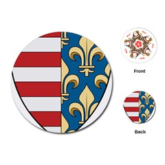 Angevins Dynasty of Hungary Coat of Arms Playing Cards (Round)