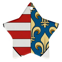 Angevins Dynasty of Hungary Coat of Arms Star Ornament (Two Sides)