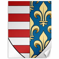 Angevins Dynasty of Hungary Coat of Arms Canvas 36  x 48