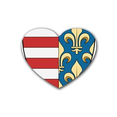 Angevins Dynasty of Hungary Coat of Arms Heart Coaster (4 pack)