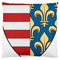 Angevins Dynasty of Hungary Coat of Arms Large Cushion Case (One Side)