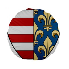 Angevins Dynasty of Hungary Coat of Arms Standard 15  Premium Round Cushions