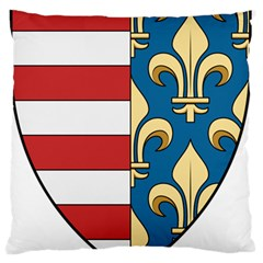 Angevins Dynasty of Hungary Coat of Arms Large Flano Cushion Case (One Side)