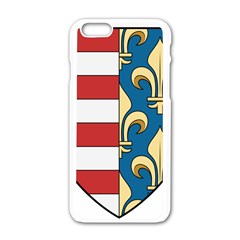 Angevins Dynasty of Hungary Coat of Arms Apple iPhone 6/6S White Enamel Case