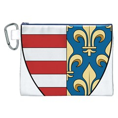 Angevins Dynasty of Hungary Coat of Arms Canvas Cosmetic Bag (XXL)