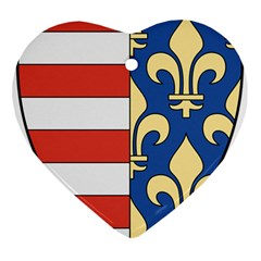 Angevins Dynasty of Hungary Coat of Arms Ornament (Heart)