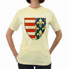 Angevins Dynasty of Hungary Coat of Arms Women s Yellow T-Shirt