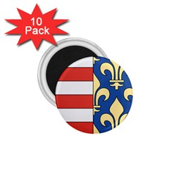 Angevins Dynasty of Hungary Coat of Arms 1.75  Magnets (10 pack)