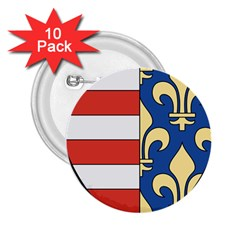 Angevins Dynasty of Hungary Coat of Arms 2.25  Buttons (10 pack)