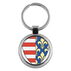 Angevins Dynasty of Hungary Coat of Arms Key Chains (Round)