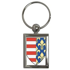 Angevins Dynasty of Hungary Coat of Arms Key Chains (Rectangle)