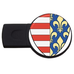 Angevins Dynasty of Hungary Coat of Arms USB Flash Drive Round (2 GB)