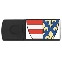 Angevins Dynasty of Hungary Coat of Arms USB Flash Drive Rectangular (2 GB)