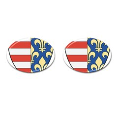 Angevins Dynasty of Hungary Coat of Arms Cufflinks (Oval)