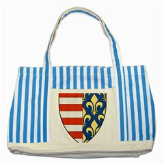 Angevins Dynasty of Hungary Coat of Arms Striped Blue Tote Bag