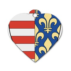 Angevins Dynasty of Hungary Coat of Arms Dog Tag Heart (Two Sides)