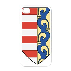 Angevins Dynasty of Hungary Coat of Arms Apple iPhone 4 Case (White)
