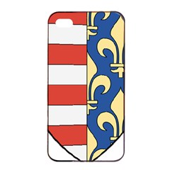 Angevins Dynasty of Hungary Coat of Arms Apple iPhone 4/4s Seamless Case (Black)