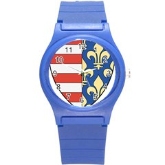 Angevins Dynasty of Hungary Coat of Arms Round Plastic Sport Watch (S)