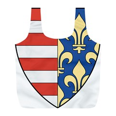 Angevins Dynasty of Hungary Coat of Arms Full Print Recycle Bags (L)