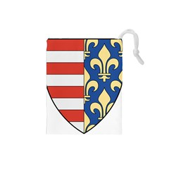Angevins Dynasty of Hungary Coat of Arms Drawstring Pouches (Small)