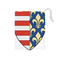 Angevins Dynasty of Hungary Coat of Arms Drawstring Pouches (Medium)