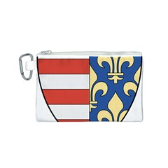 Angevins Dynasty of Hungary Coat of Arms Canvas Cosmetic Bag (S)