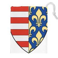 Angevins Dynasty of Hungary Coat of Arms Drawstring Pouches (XXL)