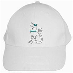 Cute cat character White Cap