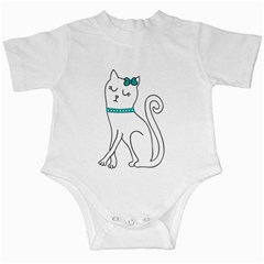 Cute cat character Infant Creepers