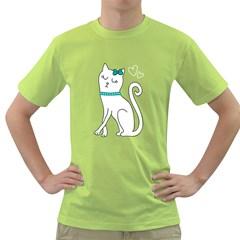 Cute cat character Green T-Shirt