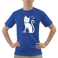 Cute cat character Dark T-Shirt
