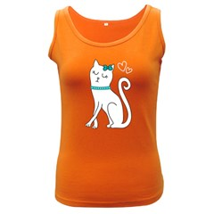 Cute cat character Women s Dark Tank Top