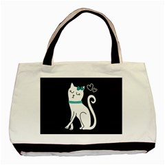 Cute Cat Character Basic Tote Bag