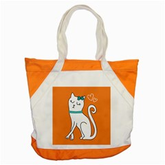 Cute Cat Character Accent Tote Bag