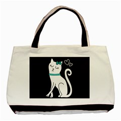 Cute Cat Character Basic Tote Bag (Two Sides)