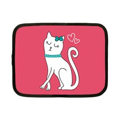 Cute Cat Character Netbook Case (Small)