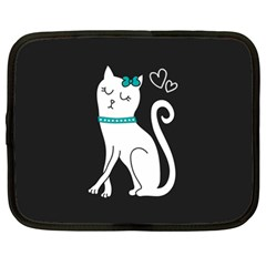 Cute Cat Character Netbook Case (Large)