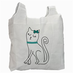 Cute Cat Character Recycle Bag (One Side)